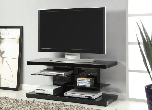 Coaster Home Furnishings 2-shelf TV Console Glossy ()