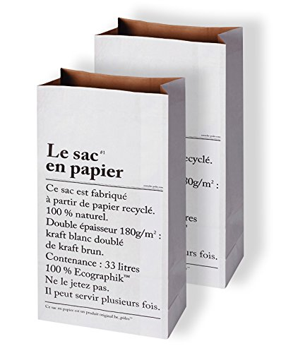 be-pôles Pack de 2 Papel Saco Paper Bag Bolsas papel kraft ...
