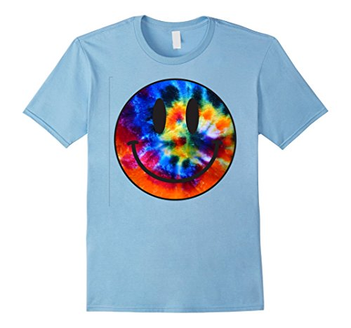 Mens Tie Dye Smiley Face Shirt | Tie Dye Tee Shirts XL Baby Blue (Smiley Baby Face)