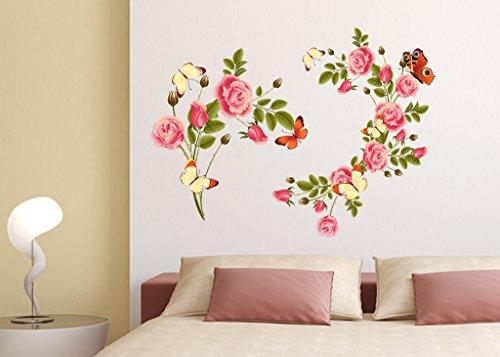 buy decals design flowers blossoms beautiful wall sticker pvc rh amazon in wall flower design photos wall flower design ideas