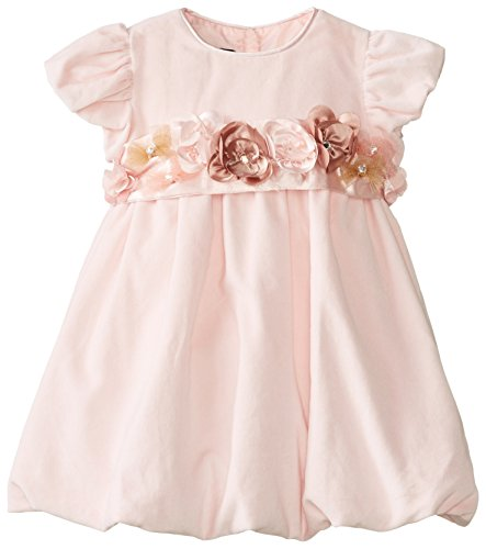 Biscotti Velvet - Biscotti Baby Girls' Winter Blooms Velvet Bubble Dress, Pink, 24 Months