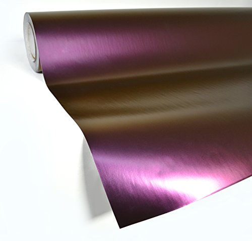 VViViD XPO Satin Semi-Gloss Purple Chameleon Vinyl Wrap Roll with Air Release Technology (3ft x 5ft)