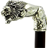 Walking sticks, |BLACK FRIDAY|. Solid Metal pewter wood Handle Lion Black Brown medical ornament women men a great gift CAVAGNINI Ceremony old people personalized Vintage Shipped in 8 days from italy
