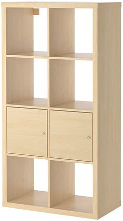 IKEA KALLAX - mueble con puertas, abedul - 77 x 147 cm efecto ...