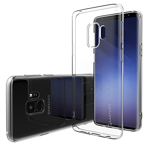 Luvvitt Clarity Case with Light and Slim Flexible TPU Rubber Protection for Samsung Galaxy S9 Plus - Crystal Clear