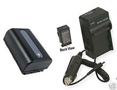 Battery + Charger for Sony HDR-CX110, Sony HDRCX110, Sony HDR-CX110E