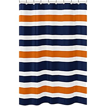 Amazoncom Gray Orange and White Kids Bathroom Fabric Bath Teen