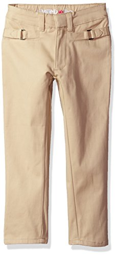 Khaki Four (Limited Too Little Girls' Twill Pant (More Styles Available), EZ Stretch Skinny Khaki-CAJH, 4)