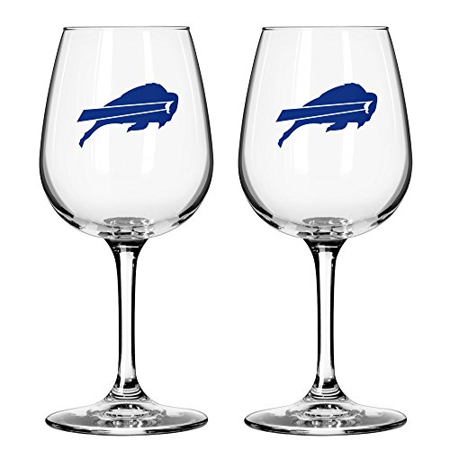me Day Wine Glass, 12-ounce, 2-Pack (Buffalo Bills Glass)