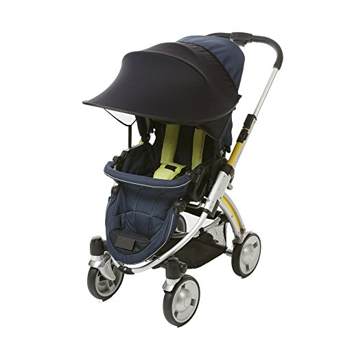 Universal Stroller Sun Shade Canopy Stroller Cover Awning Baby Carriage Pushchair Prams Buggy Visor Cover Wide Sun Shield Windproof Summer Anti-UV Umbrella Canopy Infant Trolley Parasol