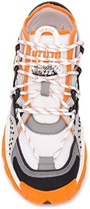 Kenzo Luxury Fashion Femme FA52SN301F5217 Orange Cuir Baskets | Printemps-été 20