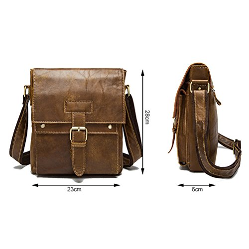 Shoulder Strap Teens Graduation Zhuhaitf Gifts Mens Cowhide Valentines Messenger Bag Leather Crossbody Coffee Flap Women Soft Adjustable over RqB8BwxC0
