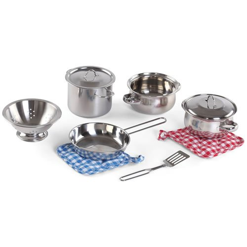 Stainless Steel Pots & Pans Set (10 Pieces) by Step2
