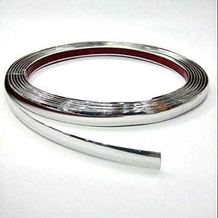 Autohobby 15mm X 5meter Zierleiste Chromleiste Universal Flexibel Selbstklebend Kunststoff Tuning Styling Chrom Auto