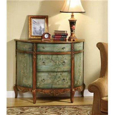 Coaster Home Furnishings Traditional Accent Cabinet, Antique Teal