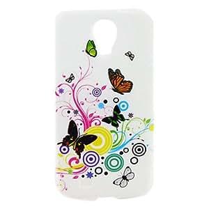 CL - Mariposas de colores Caso duro del patrón para Samsung i9500 Galaxy S4
