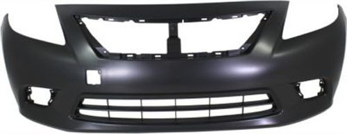 Crash Parts Plus Primed Front Bumper Cover Replacement for 2012-2014 Nissan Versa Sedan