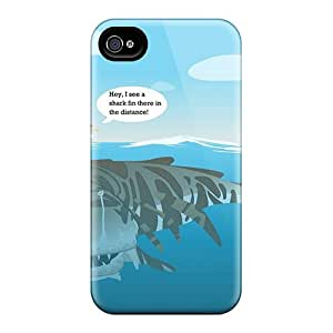 JENipper Snap On Hard Case Cover Not A Shark Protector For Iphone 4/4s
