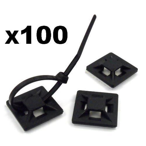 100x Attache de Câble Voiture GPS Support Auto-Adhésif - LIVRAISON GRATUITE!