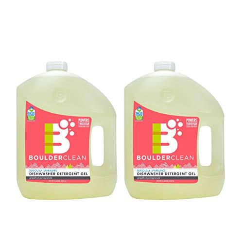 Boulder Clean Natural Dishwasher Detergent Gel, Citrus Medley, 100 oz, 2 Piece (Sparkling Clean Natural)