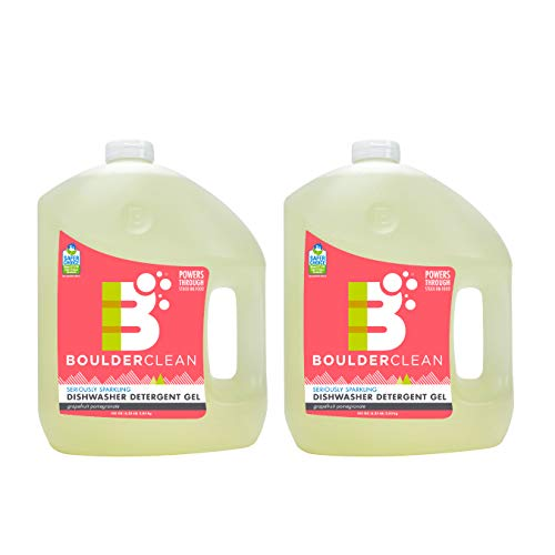 Boulder Clean Dishwasher Detergent Gel, Citrus Medley, 100 oz (Pack of 2) (Gel Detergent Dishwasher Natural)