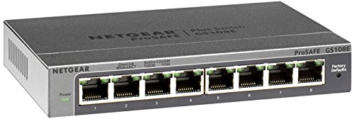 it Ethernet Smart Managed Plus Switch (GS108Ev3) - Desktop, and ProSAFE Lifetime Protection ()