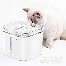 PETKIT EVERSWEET Cat Water Fountain, 68oz/2L Automatic Dog Water Fountain, Quiet Auto Power-Off Pet Drinking Water Fountain for Cats with 4 Foam Filters, Smart Mode LED Light, Reddot Design Winner