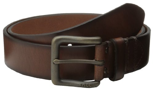 Fossil Men's Artie Belt, Dark Brown, 36 - Fossil Mens Brown Leather