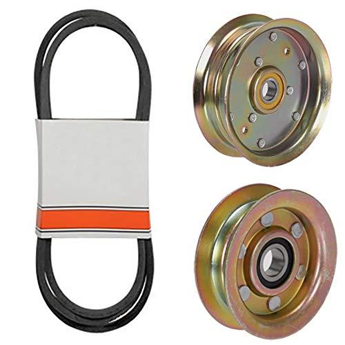 (1) Mower Deck Belt & Idler Pulley Set for John Deere L100, L108, L110, L111 & L118 with 42