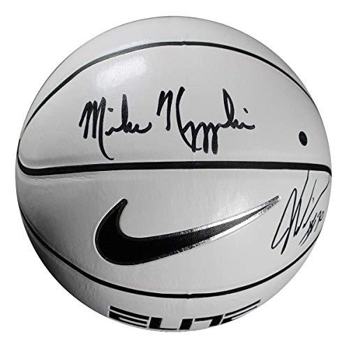 Mike Krzyzewski/Justise Winslow Dual Signed Nike Elite White Panel Regulation Basketball - Steiner Sports Certified