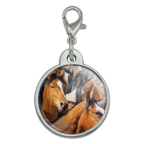 Chrome Plated Grid (Graphics and More Horses Gridlock Chrome Plated Metal Pet Dog Cat ID Tag - Small)