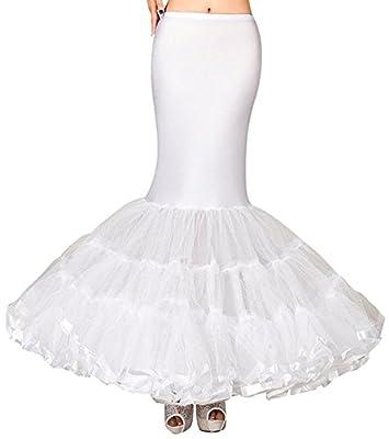 SlenyuBridal Petticoat Underskirt Crinoline Wedding Accessories for Mermaid Wedding Dress