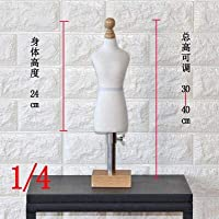Acturen 1/4 Female White Woman Body Mannequin Sewing for Female Clothes,Busto Dresses Form stand1:4 Scale Jersey Bust can pin 1pc C760