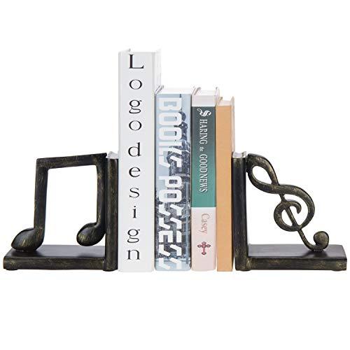 sujeta libros decoracion estilo signos musicales
