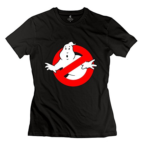 TGRJ Women's T-shirts - Geek The Real Ghost Busters Black Size L