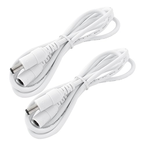 uxcell 2PCS DC 5.5x2.1mm Male to Female Connector CCTV Camera Power Extension Cable 1M