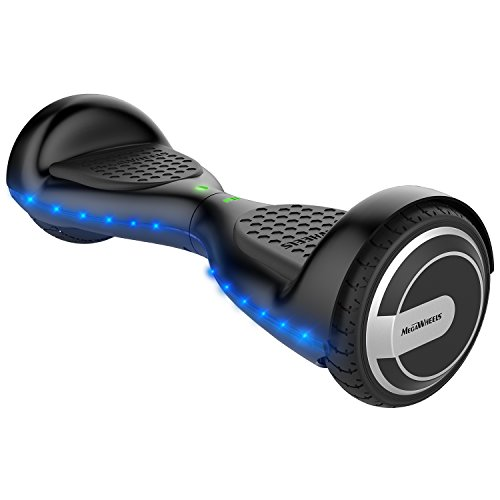 MegaWheels 6.5′ Hoverboard UL 2272 Certified Self-Balancing Smart Scooter With Built-in Bluetooth Speaker LED lights