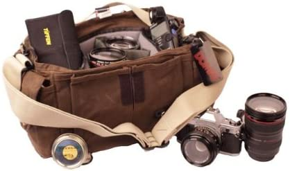 Leica Nikon Fujifilm /& Olympus DSLR or Mirrorless Cameras with Space for Multiple Lenses up to 300mm and Accessories Sony for Canon Ruggedwear Brown Domke F-2 Original Shoulder Bag 700-02A