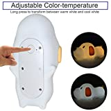 Silicone LED Papa Puppy Night Light Touch Sensor