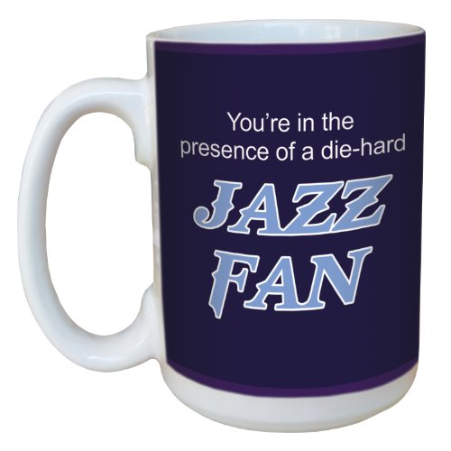 Tree-Free Greetings lm44168 Jazz Basketball Fan Ceramic Mug with Full-Sized Handle, 15-Ounce