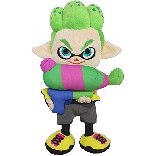 "Price comparison product image Little Buddy Splatoon 2 Series Inkling Boy Neon Green Plush, 10"""