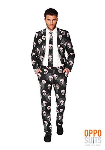 OppoSuits Men's Skulleton Party Costume Suit, Multi, 42
