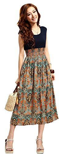 Womens Slim Vintage Sleeveless Bohemia Hipster Bodycon Dress