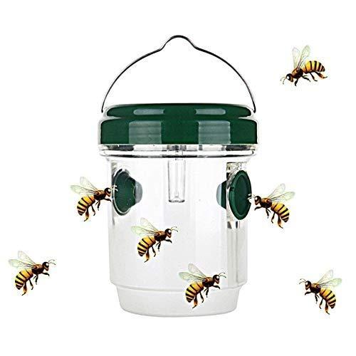 Metrek 1Pcs Outdoor Flying Suspension LED Plastic Bee Hornet Trap
