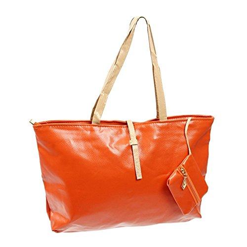 di arancia R delle di Borse caramella nero di di cuoio tracolla borse di elaborazione disegno colore relazione bambino dell'unita' madre della TOOGOO a nuove 7dgqgw
