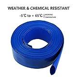 Eastrans 1-1/4 50' Blue PVC Lay-Flat Backwash