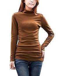 Allegra K Women's Long Sleeves Turtle Neck Slim Fit Top
