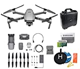 DJI Mavic 2 Zoom Drone Collapsible Quadcopter Bundle, 128GB MicroSD Card Supports 4K Video, Landing Pad, Waterproof Hard Carrying Case