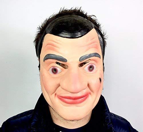 Funny Half Mask Long Face Old Man Bad Teeth Grin Mask  Adult Stag Party Masks