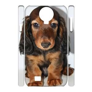 GGMMXO Longhair dachshund Phone 3D Case For Samsung Galaxy S4 i9500 [Pattern-6]